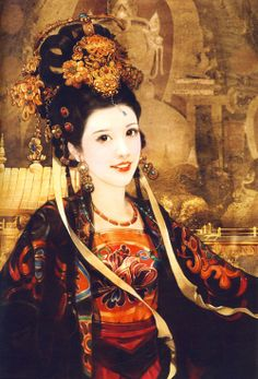 Princess Wencheng (Tang Chinese Princess, 7th C. CE, possibly mythical). Said to have introduced Buddhism to Tibet