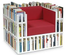 Book shelf sofa.