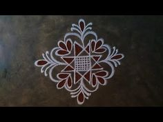 Rangoli Designs Flower, Rangoli Kolam Designs, Rangoli Designs Images, Beautiful Rangoli Designs, Small Rangoli, Rangoli With Dots, Easy Rangoli, Muggulu Dots, Free Hand Rangoli Design