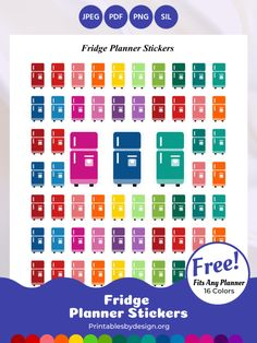 Planner Sticker Categories – Printables by Design Free Planner, Planner Pages, Printable Planner, Happy Planner, Planner Diy, Planner Ideas, Free Printables, Printable Stickers, Planner Stickers