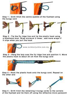 Cara mudah gantung flysheet