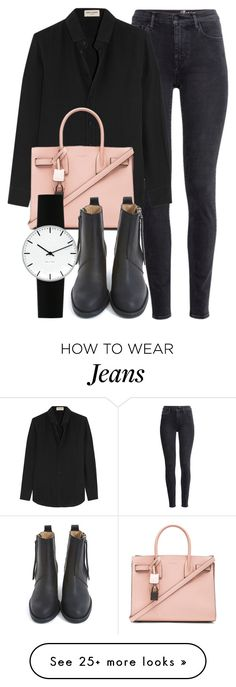 """Untitled #5097"" by laurenmboot on Polyvore featuring H&M, Yves Saint Laurent, Acne Studios, Rosendahl, women's clothing, women's fashion, women, female, woman and misses"