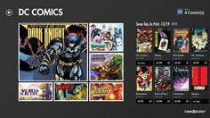 Comics from comiXology // is the best way to read comics ever. I wasn't really into comics but I got this app and got a few horror comics and really like it. Wide screen Windows tablets are perfect for comics when held in portrait mode.