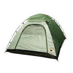"""Adventure Dome, 2-Person - Easy to assemble 2 pole dome design. - Quick clip system makes attaching the tent to the support poles a breeze. - Ring and pin locks each pole securely to the tent corners. - Mesh sun roof for star gazing. - Perfect for warm summer nights in the backyard or camp ground. - Sleeps 2 children or 1 adult. - 1/4 rain fly. Specifications - Size: 78""""X66""""X43"""" - Floor Area: 36 sq. ft. - Weight: 4 lbs. 10 oz. - Color: Forest/Tan - Fly: 1/4 - Usage: 3 Season"""