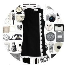 """Retro"" by juliehalloran ❤ liked on Polyvore featuring Stila, Könitz, Bococo, SCENERY, Hervé Gambs, Christian Lacroix, Kate Spade, CB2, Eos and NARS Cosmetics"