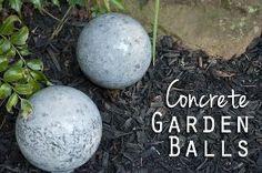 concrete garden balls, concrete masonry