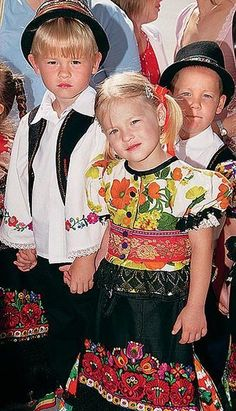 children in Hungary with traditional wears Kids Around The World, We Are The World, People Around The World, Precious Children, Beautiful Children, Folklore, Beautiful World, Beautiful People, Folk Costume