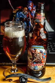 Iron Maiden beer. Trooper Ale | You'll take my ALE but I'll take yours too #Beer #Music #Band