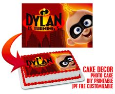 The Incredibles cake topper birthday party Incredibles Birthday Party, Disney Incredibles, Birthday Cake Bakery, Birthday Cake Toppers, 2nd Birthday Parties, Birthday Party Invitations, Diy Cake, Party Accessories, For Your Party