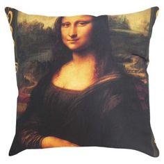 ALMOFADA MONALISA - - - - - - - - - - - - - - - - - - - - - - - - - - - - - - #MonaLisa #Quarto #Cama #Decoração #Decoration #Sala #Sofa #Leonardodavince #Almofada #home