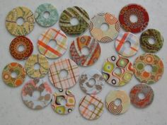 washer necklace with scrapbook paper