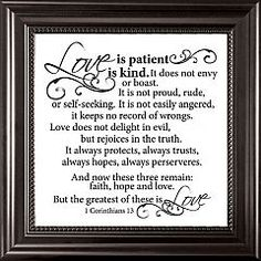 Love is patient, Love is kind Floating Frame | $23