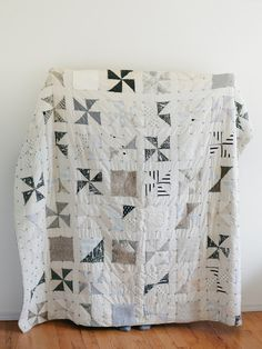 Not usually a black and white quilt lover but really like this low volume version