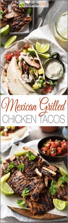 Mexican Grilled Chicken Tacos