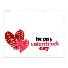 Valentine Card 33 Mosaic Hearts