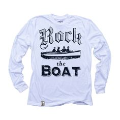 Rock the Boat: Organic Fine Jersey Long Sleeve T-Shirt in White
