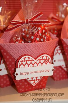 Stampin' Up!  Treat Holder  Heidi Boos  Valentine Candy Pouch valentine treats, gift bags, diaper fold, valentine day, paper, candies, gift cards, box, valentine gifts