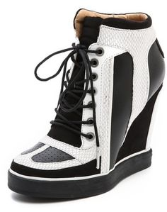 L.A.M.B. Summer Lace Up Wedge Sneakers on shopstyle.com