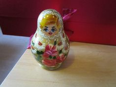 """New Listing Started YDC133 set of 5 Russian Dolls made in Poland 3""""high NEW goldtone floral £0.50"""