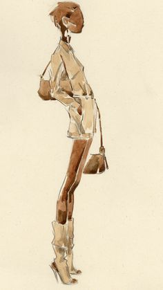 Maria Persik, watercolor, fashion illustration
