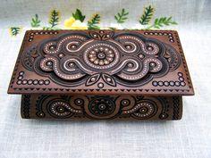 Wood carved box $45.00, via Etsy.