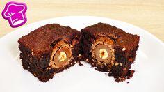 Leckere Brownies mit Ferrero Rocher Füllung   unglaublich schokoladig   ...