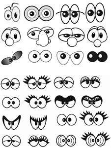 Drawing Faces Eyes Etc on scary cartoon expressions