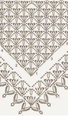 Crochet Stitches Patterns, Stitch Patterns, Triangle Scarf, Crochet Shawl, Bandanas, Shawls, Knitting, Scarf Crochet, Crochet Shawl Patterns