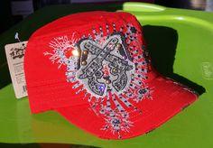 NEW Custom Red Guns Cap with BLING by RockNRollCowgirlLLC on Etsy