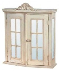 Shabby Chic Bathroom Cabinet French Cabinets Antique Cream