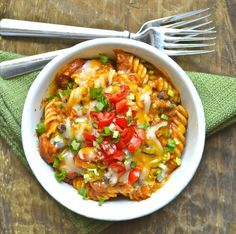 Spicy Sausage Black Bean Pasta, a 30 minute, one pan meal that is delicious and gluten free!