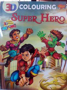 Manoj Comics Superhero Coloring Book by Jai Khohwal