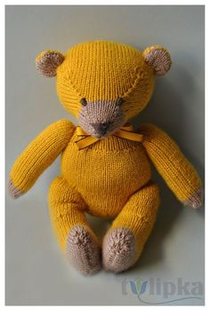 You can access more content by visiting the site. tricoter un ours en laine Plus - Knitted Teddy Bear, Crochet Teddy, Crochet Bear, Animal Knitting Patterns, Marionette, Knitted Animals, Rabbit Toys, Cute Teddy Bears, Baby Knitting