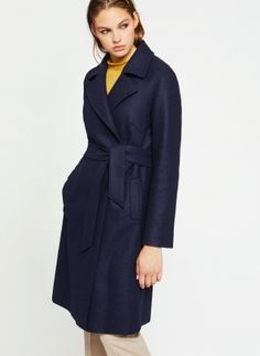 b733eea4afa Blue wool Icons Icons coat with belt - Cinzia Rocca
