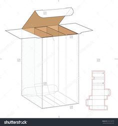 Divided Compartments Box With Die Cut Template Stock Vector Illustration 336150779 : Shutterstock