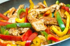 What's for dinner tonight? How about this healthy #chicken stir fry for under 150 calories!