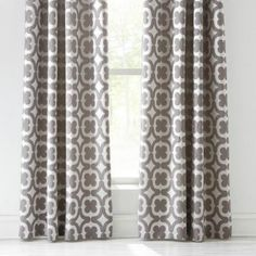 Grey Bali Lined Eyelet Curtains Dunelm