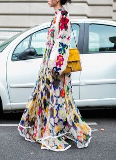 Floral Bohemian long flowy dress