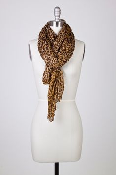 Brown Leopard Print long scarf!  LOVE IT!  $17.95