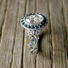 Vintage Inspired Yehuda Diamond Engagement by AdziasJewelryAtelier