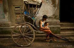Kolkata's (Calcutta) rickshaw pullers take children to school and people to work… Pakistan Bangladesh, Poetry Prompts, National Geographic Photographers, Bhutan, India Travel, Incredible India, Kolkata, Photojournalism, Bengal
