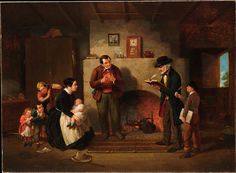 size: Giclee Print: Taking the Census, 1854 by Francis William Edmonds : Vintage Artwork, Vintage Walls, Oil On Canvas, Canvas Prints, Tile Murals, A4 Poster, Posters, Heritage Image, Metropolitan Museum