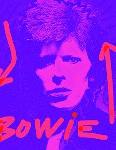 Boiwie Red And Purple by Enki Art : . David Bowie Art, Portrait Art, Portraits, Ziggy Stardust, Modern Love, Rock Posters, Creative Photos, Art Music, Hard Rock