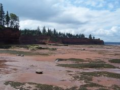 Bay of Fundy at low tide, Nova Scotia area.