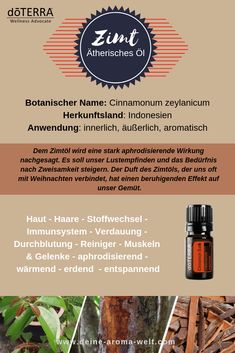 doTERRA Cinnamon - Zimtöl Deutsch Cinnamon comes from a tropical, evergreen tree that grows up to 45 Bloating Remedies, Cinnamon Oil, How To Memorize Things, Things To Come, Copaiba, Healthy Lifestyle Motivation, Doterra Oils, Life Inspiration, Take Care Of Yourself
