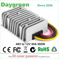 Cheap 48v to 12v, Buy Quality down converter directly from China 12v to 48v Suppliers: 48V to 12V 30A (48VDC to 12VDC 30AMP) 360W Golf Cart Voltage Reducer DC DC Step Down Converter CE RoHS Certificated Waterproof