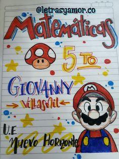 Bullet Journal School, Luigi, Ideas Para, Lettering, Disney Characters, Art, Tips, Creative Notebooks, Sketchbook Cover