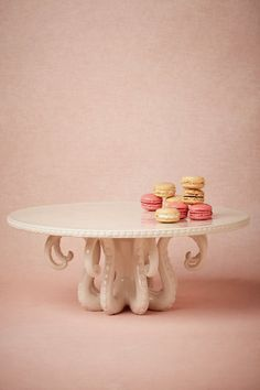 If I had 8 hands, they would be raising the roof for this fabu Octopus Cake Stand from Anthropologie; Whoop-Whoop!