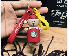New Starbucks 2017 China Merry Christmas Red Bear Keychain Bearista Keyring Cute Starbucks Merchandise, Red Christmas, Christmas Ornaments, China, Bear, Holiday Decor, Cute, Christmas Jewelry, Kawaii