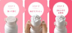 Foam party: This Japanese product dispenses rose-shaped foam